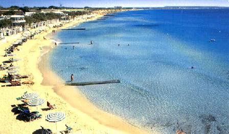 La spiaggia di Lido San Giovanni