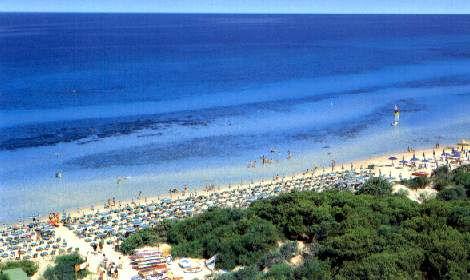 Spiaggia in località Rivabella