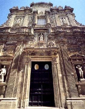 Facciata barocca della Cattedrale di Sant'Agata